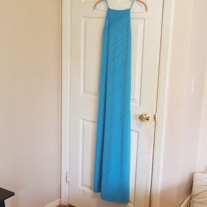 Delaru turquoise prom gown size 5 halter